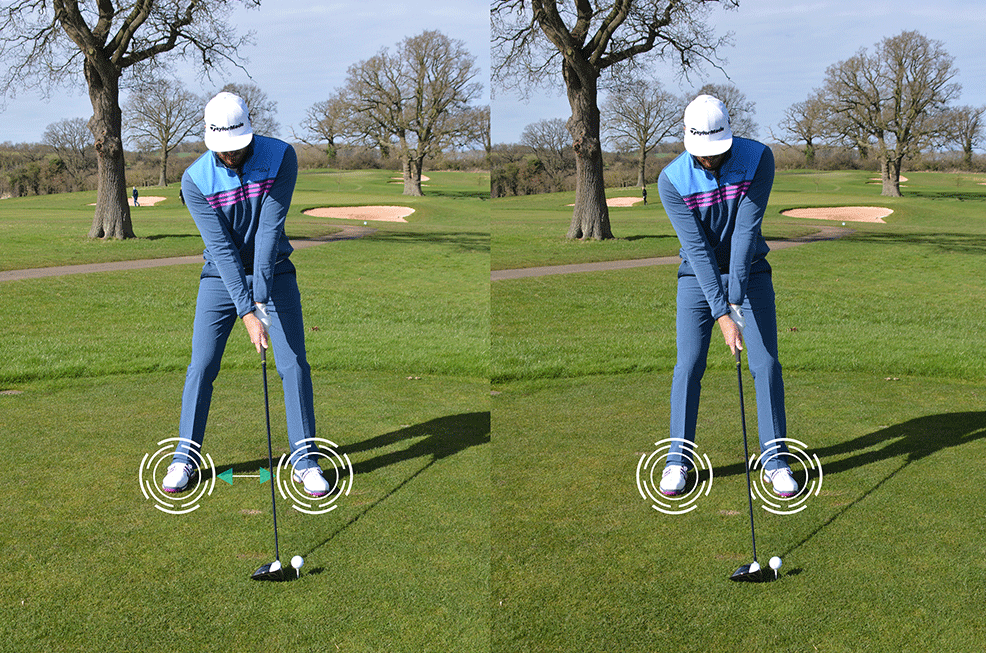 Narrow Golf Stance To Draw The Ball