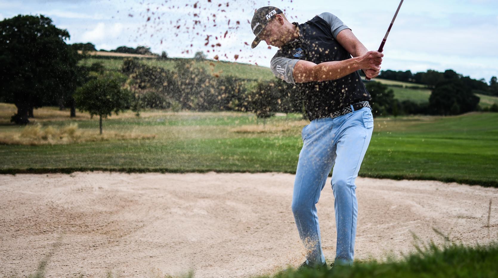 golf bunker shot