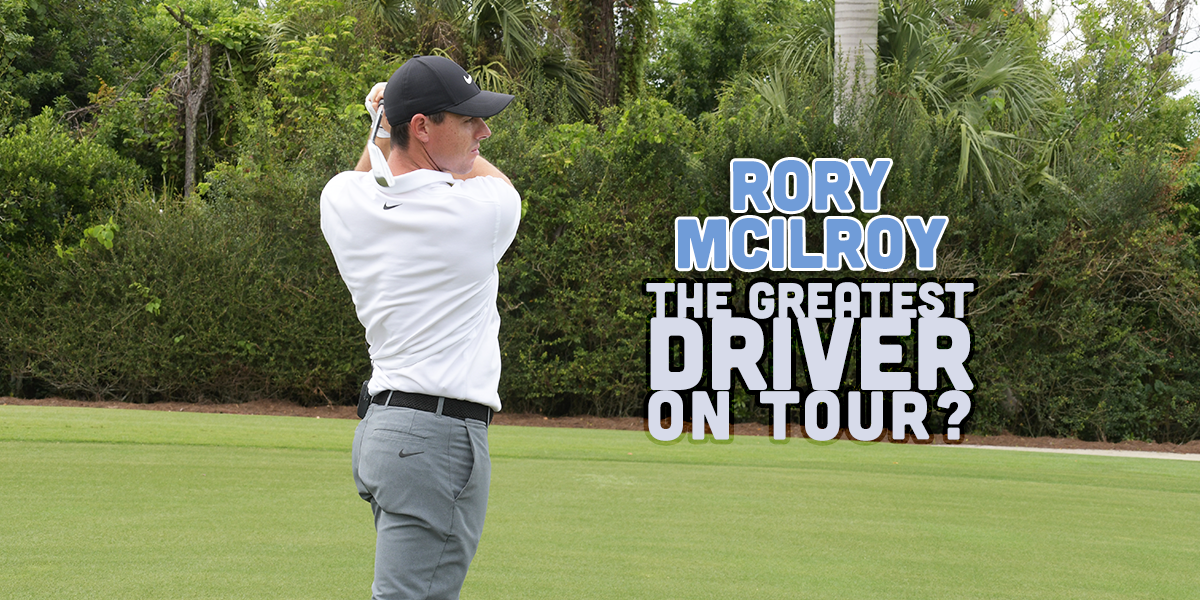 Rory McIlroy PGA golf professional wearing Adidas and Taylormade driving the golf ball
